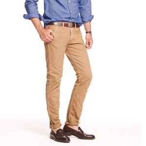 J Crew Mens Jeans Size 29 x 29 Tan Camel 484 Slim